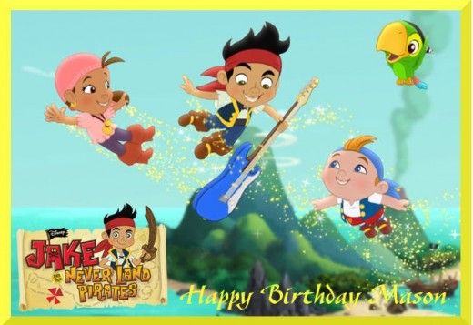 sample photo - cake topper Jake and the Never Land Pirates