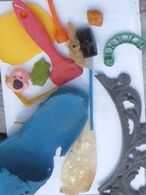 Plastic found on La Caleta beach