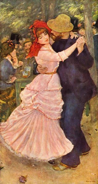 Dance at Bougival by Pierre-Auguste Renoir Source: This image and the reproduction thereof are in the public domain worldwide. Reproduction is part of a collection of reproductions compiled by The Yorck Project via Wikimedia Commons.