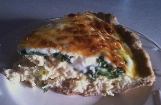 Spinach Cheese Chicken Quiche