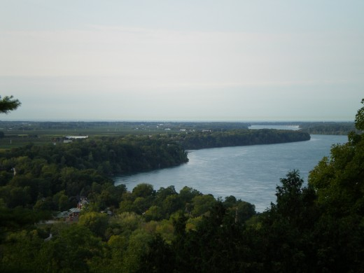 View of Niagara River as seen from Brock's Monument
