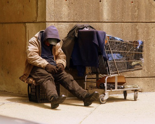 Homeless Veteran on the streets of Boston - Source: Matthew Woitunski via Wikimedia Commons