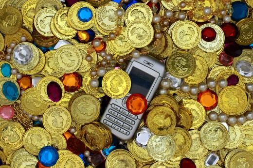 Find gold in your customers cell phone by offering Google Wallet as an option?
