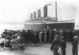 This is actually the Titanic older sister, the RMS Olympic.