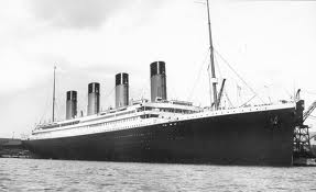The Titanic alongside, prior to departure.