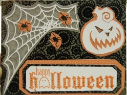 Easy to Make Halloween Card using a Cricut Machine and Stamping