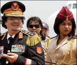 Some Surprising Facts You Don't Know about Moammar Ghadafi of Libya: elite Amazon bodyguards, Ukranian nurses, and more