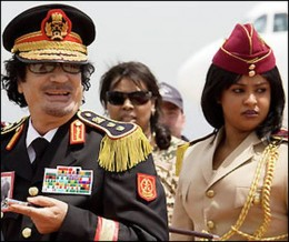 Ghadafi and body guard (undated)