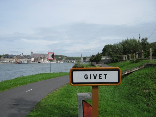 The Trans-Ardennes Green Way at Givet