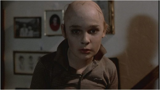 Tommy with his head shaved to look like Jason