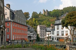 Monschau with a view of the Red House