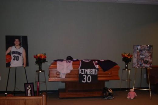 Caleb Kimberly's funeral.