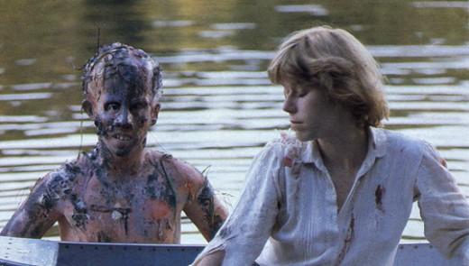 Jason as the undead child in the shocking ending of the original
