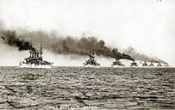 The Fleet leaving Hampton Roads, VA