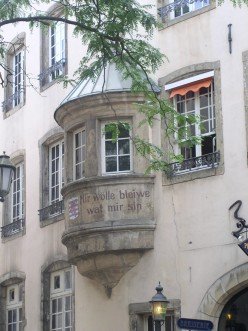 Old bay window in Luxembourg City