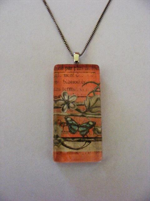 A rectangular pendant