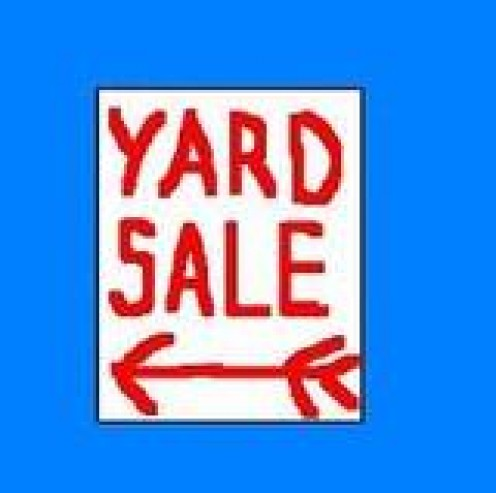 Don't forget to take down neighborhood signs after your yard sale is over.