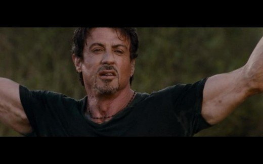 One of the actors asked about what the story of this movie is about, and Stallone exasperatedly says he doesn't know.