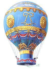 The first hot air balloon.