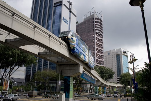 In the city centre, travel conveniently using the Monorail.