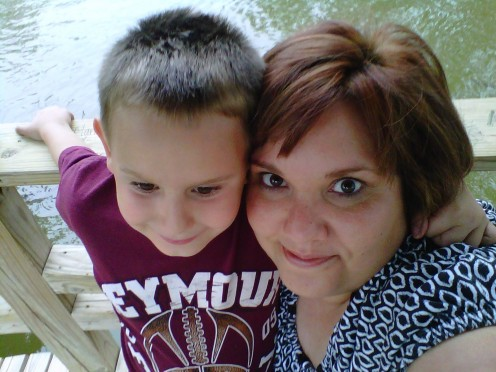 Let me introduce myself.  My name is Misty, and this is my son Garrett. Diagnosed 7-1-11, I am a Morphea Mom, a badge of courage which I proudly wear in the hope of helping others.