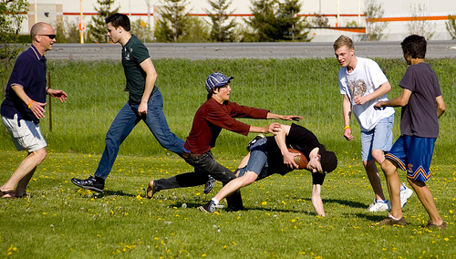 Family Football on Thanksgiving Day