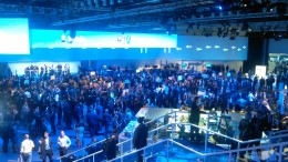 Delegates viewing the tech