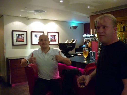 Paul & Richard in the Marriott Bar