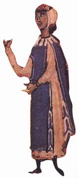 Arnaut Daniel - Source: Bibliothèque Nationale 13th century, Public Domain via Wikimedia Commons