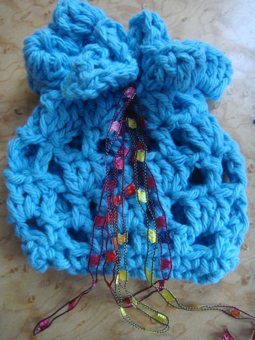 My version of the crochet sachet bag.