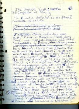 page 1 original manuscript of Silence
