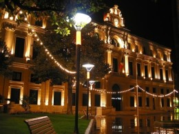 City Hall, Cannes, Alpes Maritimes, at night