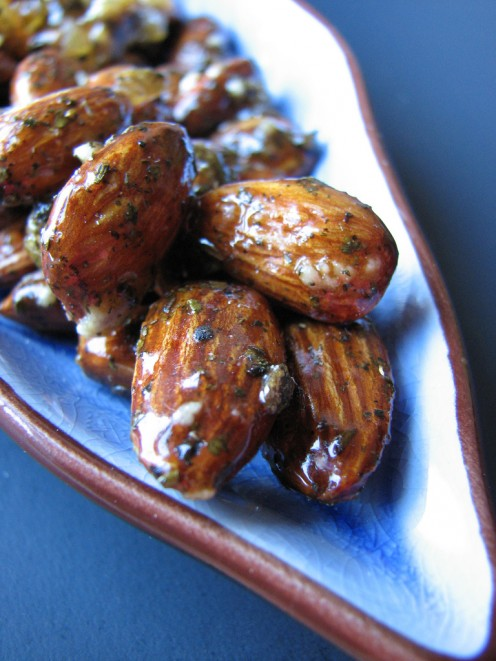 Ginger Glazed Almonds