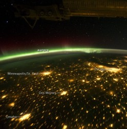 The Northern/Southern Lights from the International Space Station