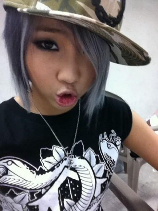 minzy silver hair minji hair