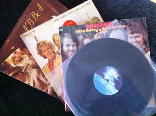 My small but precious collection of early ABBA albums!