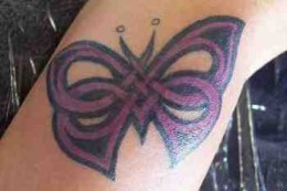 Celtic Butterfly Tattoo on Hand