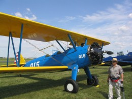 A Stearman at the Flying Cloud Airport airshow