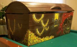 A Hand Painted Toy Box