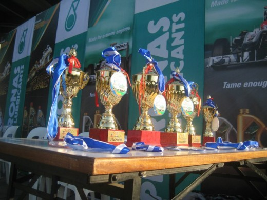 Trophies and medals for the winners (Photo by Travel Man)