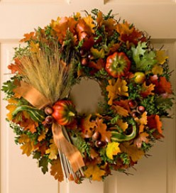 Constructing a Harvest Wreath