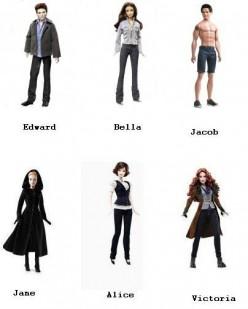 Twilight Saga Barbie Collector Dolls - Edward Cullen, Bella, Jacob, Alice, Victoria, Jane, Esme, Emmett, Jasper, Rosalie