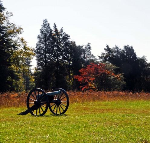Union cannon on Matthew Hill