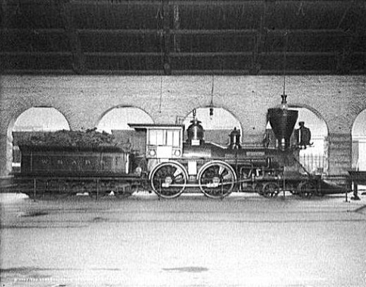 The General locomotive circa 1907. Though modified following it's damage during the Battle of Atlanta in 1864. The Locomotive remained in service wih the Atlantic and Western Railroad for decades following the end of the war.
