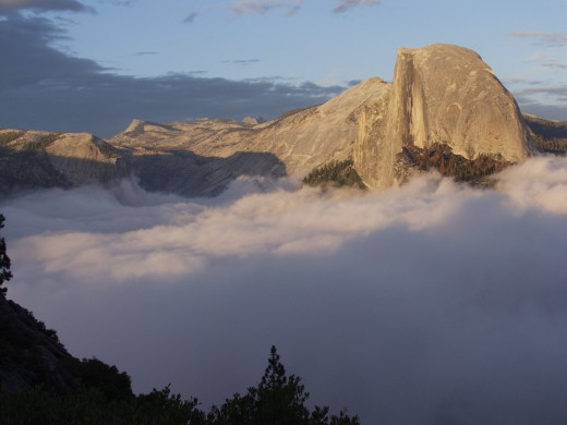 This is Half Dome at Sunset. What do we want? Liberty and Freedom from Sea to Shining Sea