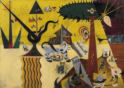 The Tilled Field by Joan Miro.