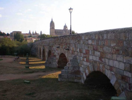 Puente Romano, or Roman Bridge, built in 1 AD.  There is no concrete holding the blocks of stone together.  They are fitted together perfectly.