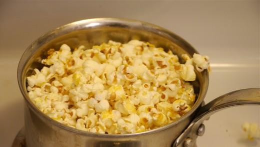 you'll get a full pot of fresh popcorn