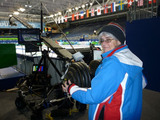 "18 days operating the ""Jimmy Jib"" camera crane at the Curling venue"