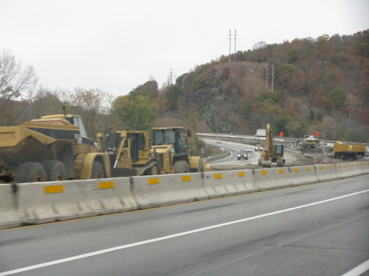 Construction along the Thruway
